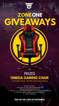 Gaming Chair Online Giveaway Template Instagram 故事