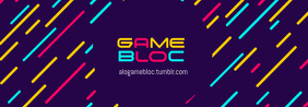 Gaming Channel Tumblr Profile Banner Template