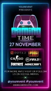 gaming event ad digital design template
