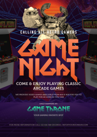 Gaming Flyer A4 template