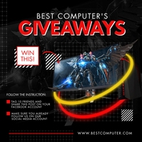 Gaming Laptop Free Prize Draw Instagram Post template