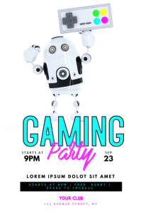 Gaming Party Flyer Template