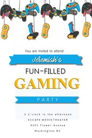 Gaming Party Invitation
