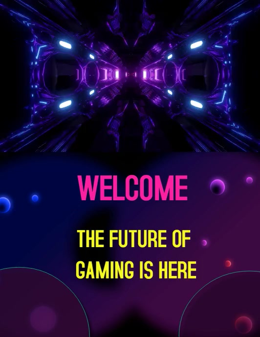 Gaming poster Volante (Carta US) template