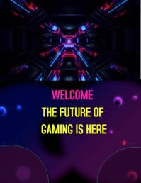 Gaming poster Flyer (format US Letter) template