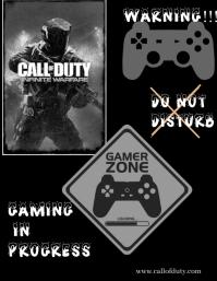 Gaming poster 传单(美国信函) template