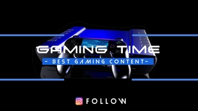 Gaming Time YouTube Channel Cover Photo template