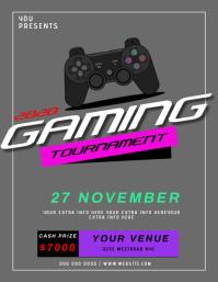 Gaming tournament EVENT FLYER TEMPLATE 传单(美国信函)