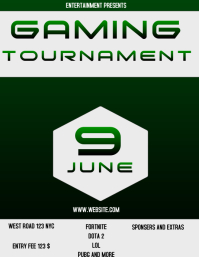 GAMING TOURNAMENT FLYER AD POSTER
