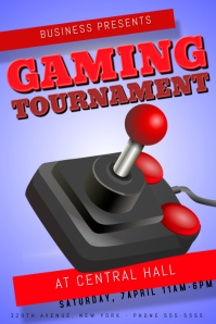Gaming tournament Flyer template