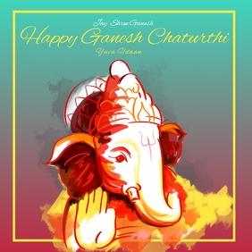 Ganapati poster template