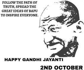 GANDHI BIRTHDAY ON 2ND OCTOBER TEMPLATE Large Rectangle
