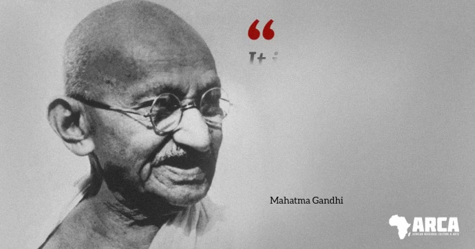 Gandhi famous quote about health video reveal delt Facebook-billede template