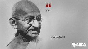 Gandhi famous quote about health video reveal Digital Display (16:9) template