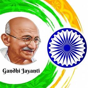 Gandhi Jayanti banner
