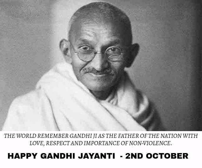 GANDHI JAYANTI BIRTHDAY ON 2ND OCTOBER TEMPLA สามเหลี่ยมขนาดใหญ่ template