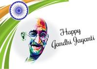 Gandhi jayanti Postcard template
