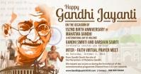 Gandhi Jayanti Virtual Prayer Meet Template Imagen Compartida en Facebook