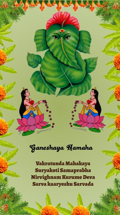 Ganesh Chathurthi WhatsAppstatus template