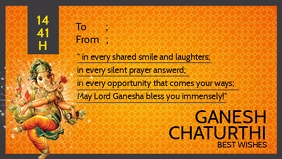 Ganesh Chaturthi Best Wishes Template Видеообложка профиля Facebook (16:9)