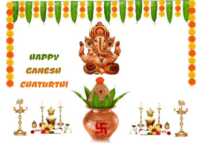 Ganesh chaturthi Postcard template
