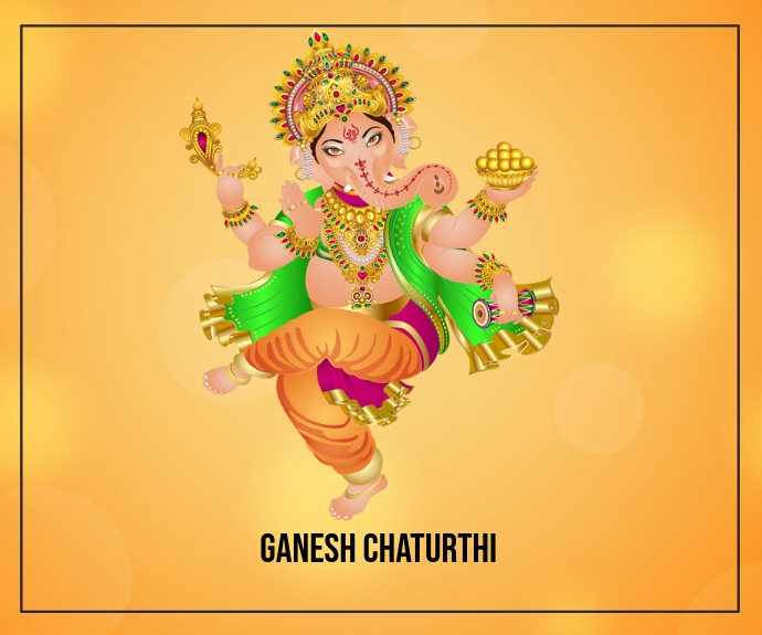Ganesh Chaturthi Rectangle moyen template