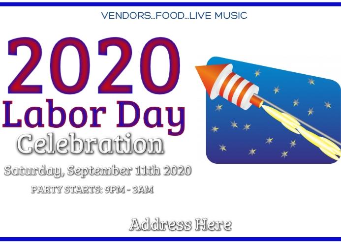 Labor day celebration Postkarte template
