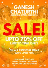 Ganesh Chaturthi Sale Template A4