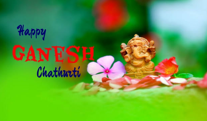 Ganesh chaturti Etiqueta template