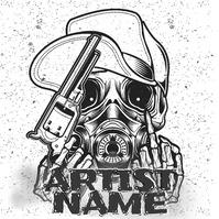Gangster Style Skull Logo 徽标 template