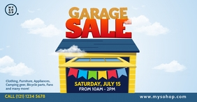 Garage Sale Advert auf Facebook geteiltes Bild template