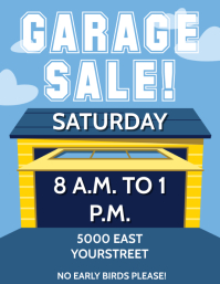 GARAGE SALE Pamflet (Letter AS) template