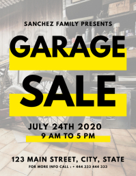 Garage sale flyer design template Pamflet (Letter AS)