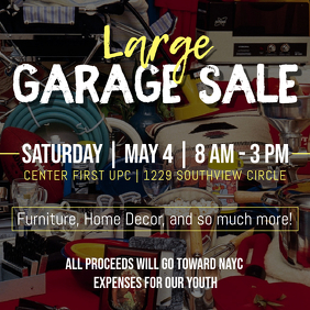 Garage sale customizable design templates postermywall