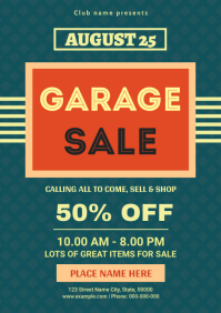 Garage Sale Flyer A4 template