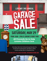Garage Sale Flyer Pamflet (Letter AS) template