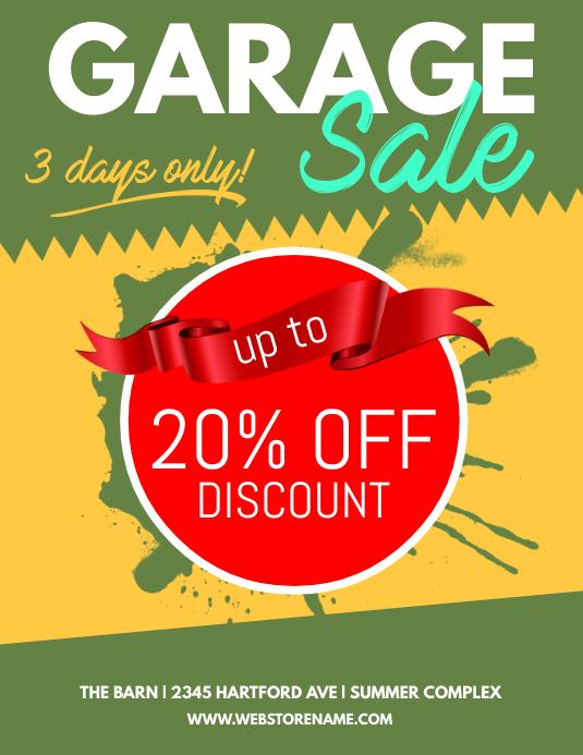 copy of garage sale flyer