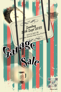 Garage sale flyer template Poster