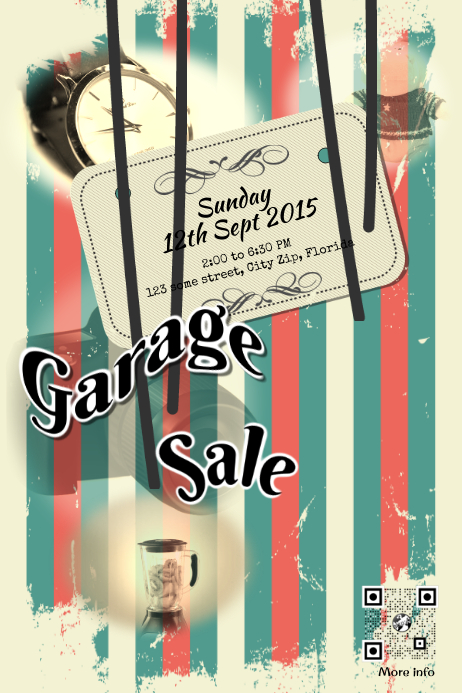 copy of garage sale flyer template