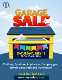 Garage Sale Flyer Template Pamflet (Letter AS)