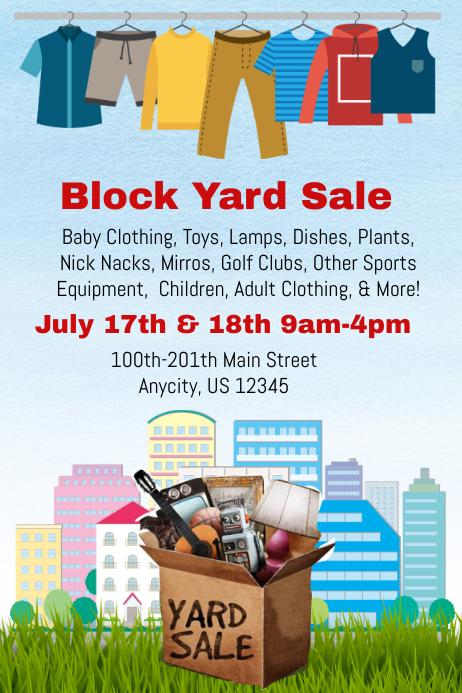 Block Yard Sale