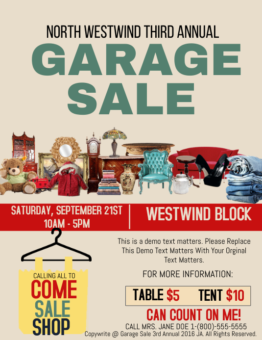 Garage Sale Template | PosterMyWall