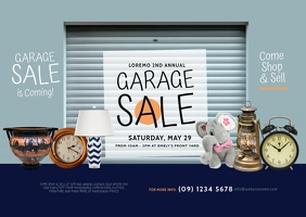Garage Sale Postcard template