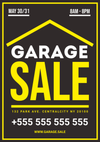 GARAGE SALE POSTER A4 template