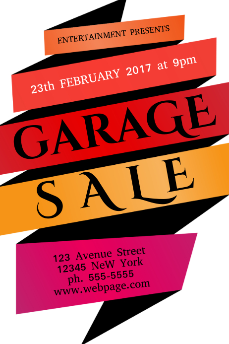 Yard sale poster design