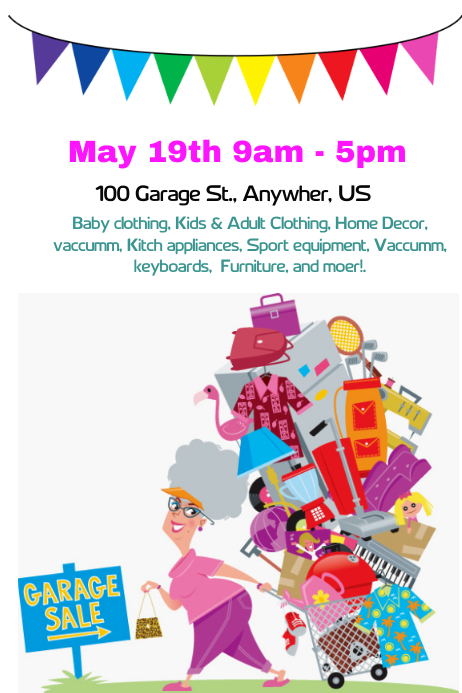 Garage Sale Flyer Template | PosterMyWall
