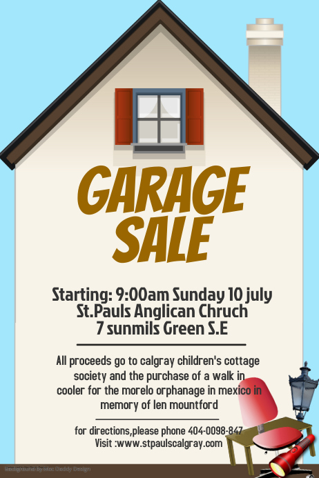 garage sale template postermywall