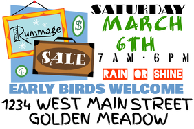 Rummage/ Yard/ Garage Sale Sign
