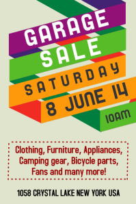 Beautiful Garage Sale Template Inside For Sale Poster Template