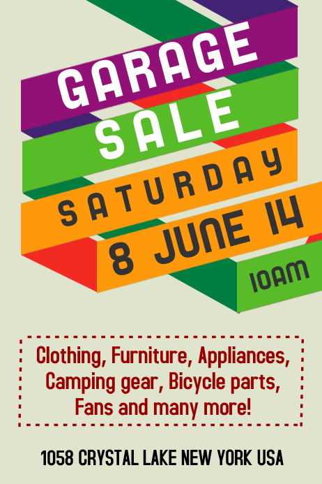 Garage Sale Template Cartaz